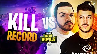 NICKMERCS AND COURAGE VS THE FORTNITE KILL RECORD! WE WENT OFF! (Fortnite: Battle Royale)