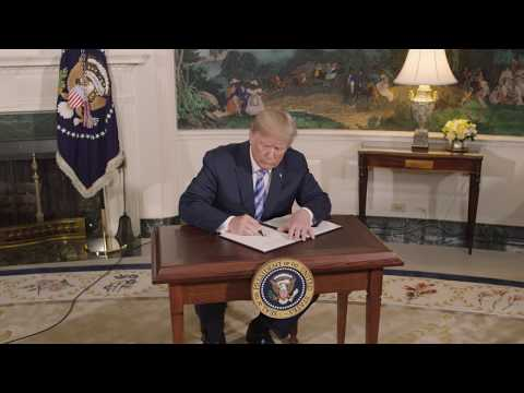 President Trump Announces Withdraw from the JCPOA Iran Deal