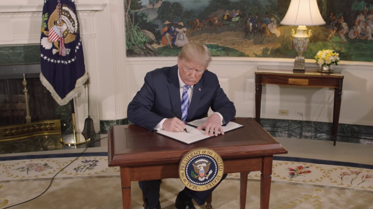 Hasil gambar untuk President Trump Announces Withdrawal from the JCPOA Iran Deal