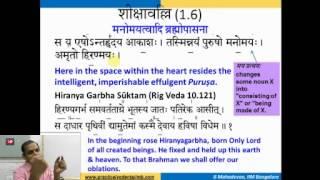 Taittiriya Upanishad Session 10 (Sikshavalli 1.6 Part 1) Mar 23 2015