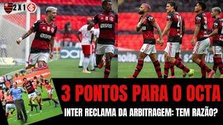Octa do Fla só depende dele, Inter segue vivo, mas jogo não foi só arbitragem. Teve o efeito-Rodinei