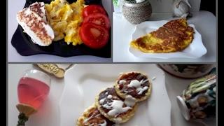 3 варианта белкового завтрака