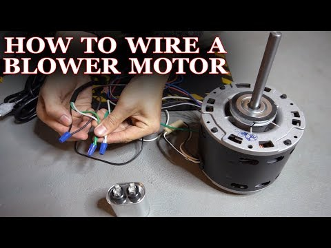 How To Wire A Furnace Or AC Blower Motor
