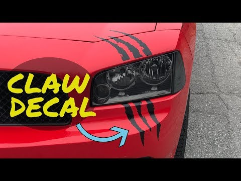 HEADLIGHT CLAW DECAL! // Installation & Where to Buy