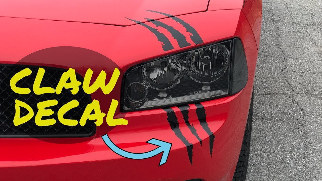 Headlight claw decal installation where to buy