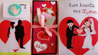 Handmade Card for Engagement/Multilayered Card /Engagement Gift Card/Personalised Engagement Card