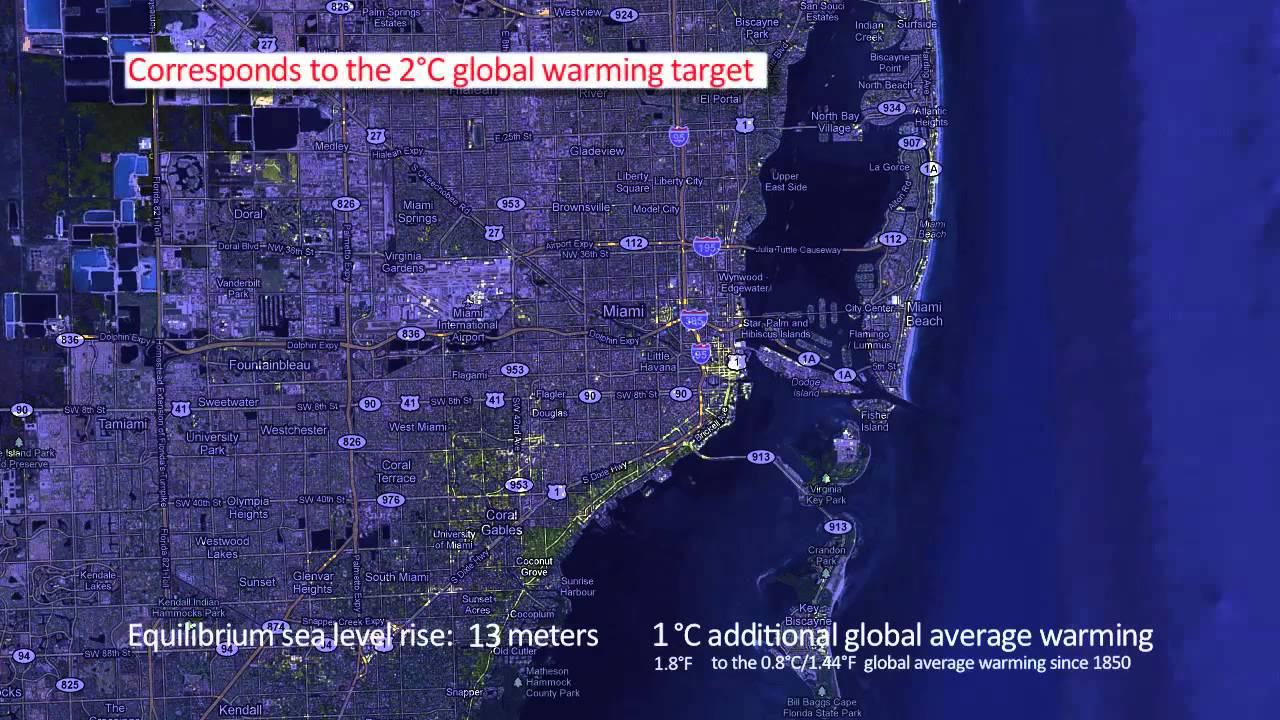 miami - sea level rise - youtube