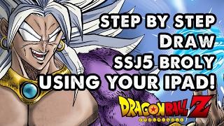 How to draw SSJ5 Broly - Dragon ball Z