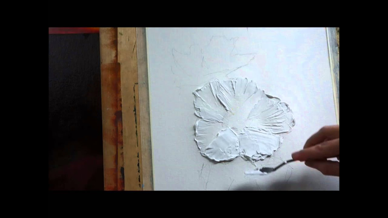 How to paint with palette knifecreating a texture with acrylic