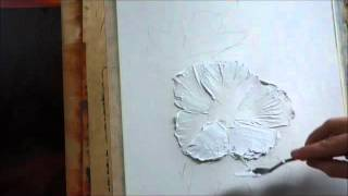 How to paint with palette knife,creating a texture with acrylic, Part 1, Lana Kanyo