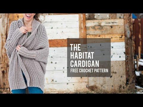 How to Crochet a Modern Draped Cardigan – Easy Free Crochet Sweater Pattern