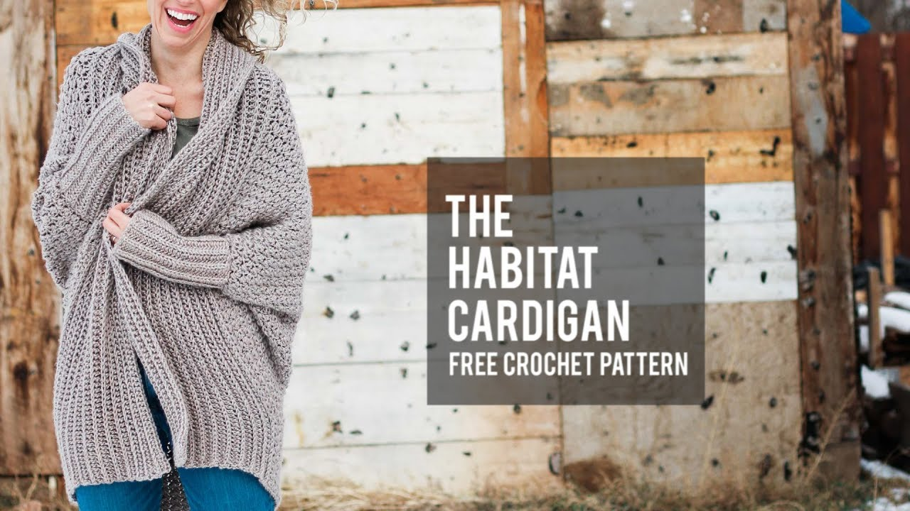 How to Crochet a Modern Draped Cardigan - Easy Free Crochet Sweater ...
