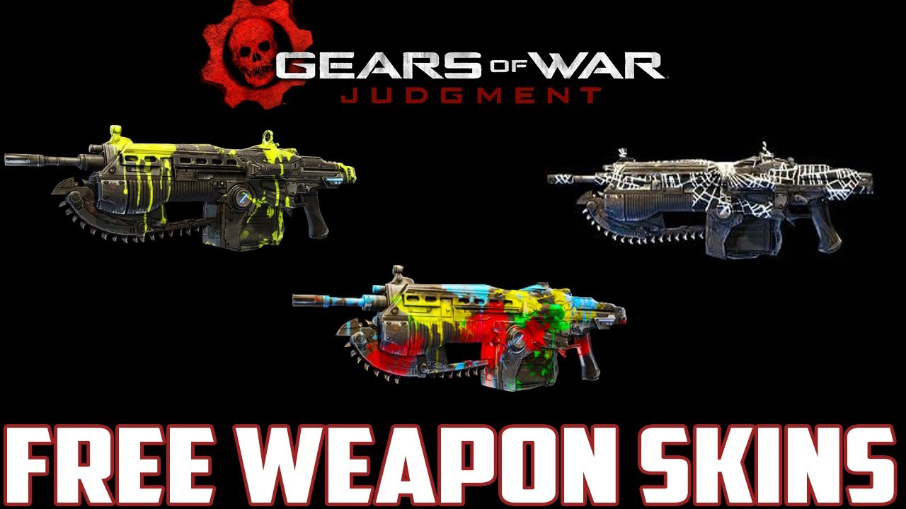 Gears Of War Judgment FREE WEAPON SKINS How To Get
