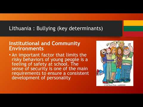 Bullying as Health Risk Among Adolescents Lithuania