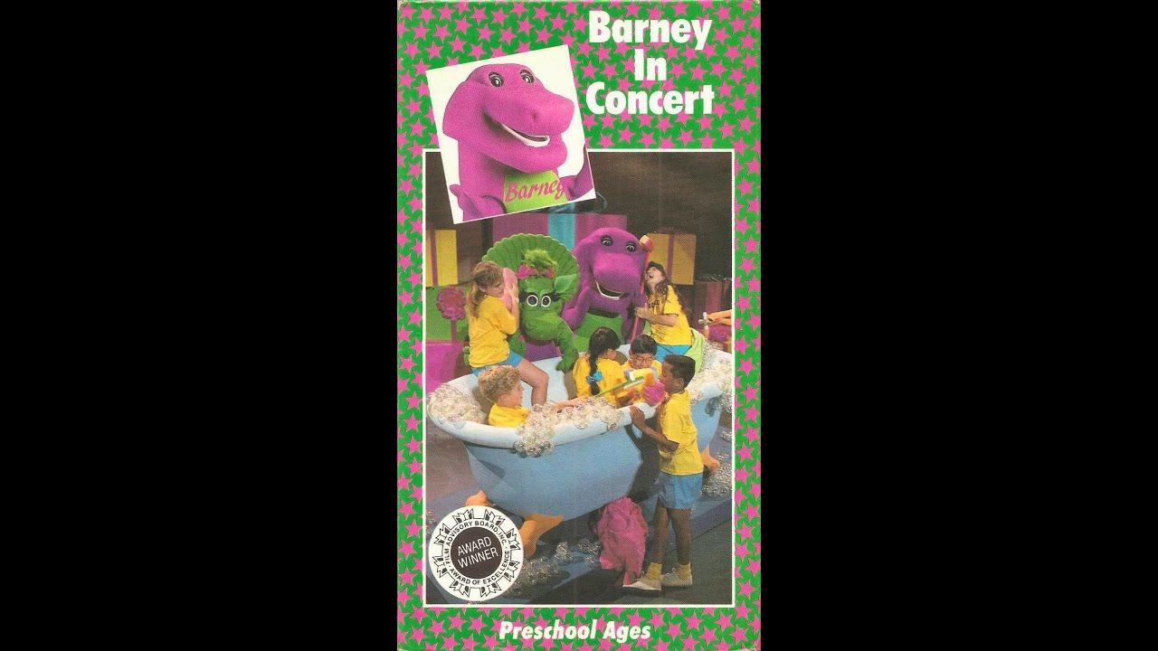 Barney The Backyard Gang Barney In Concert Cassette YouTube - Barney backyard gang concert vhs