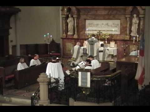 Byrd's Mass for 4 voices - Sanctus and Benedictus @ St. John's, Detroit