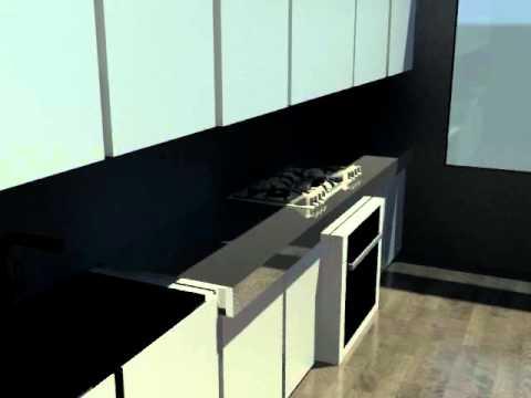 modelisation 3d cuisine 2eme ann e camondo youtube. Black Bedroom Furniture Sets. Home Design Ideas