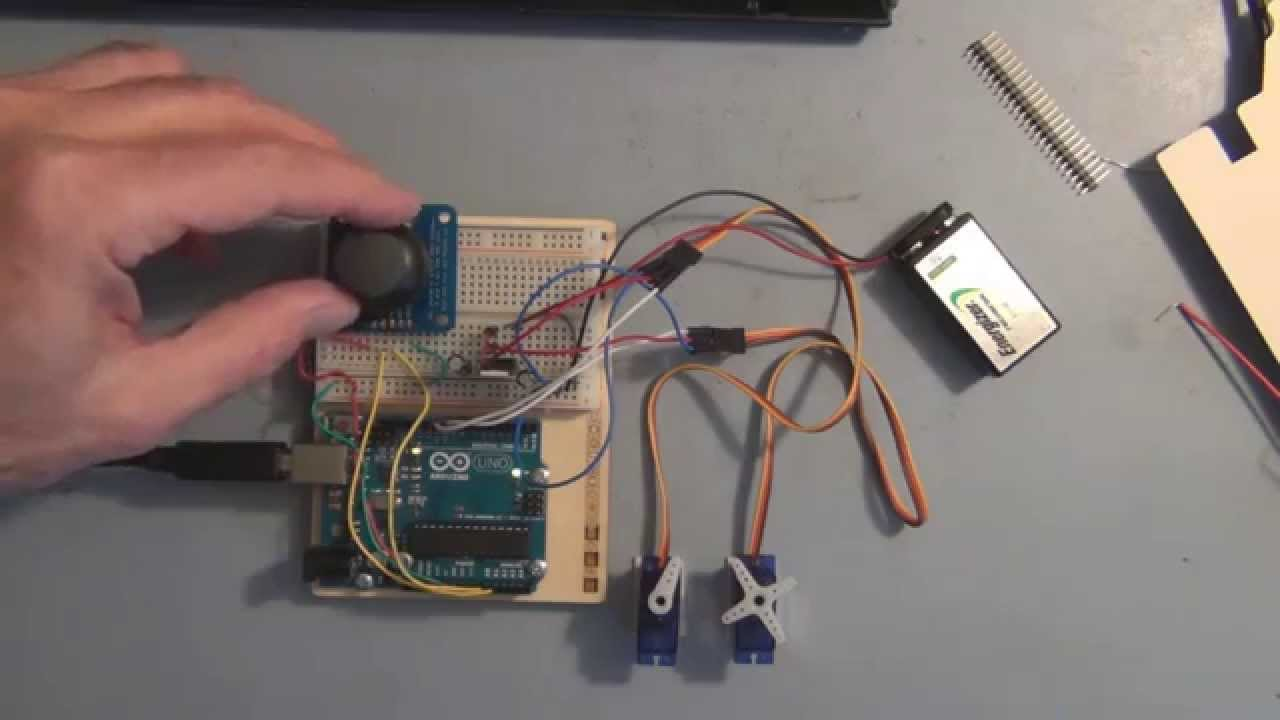 Arduino joystick servo motor control youtube for How to control servo motor