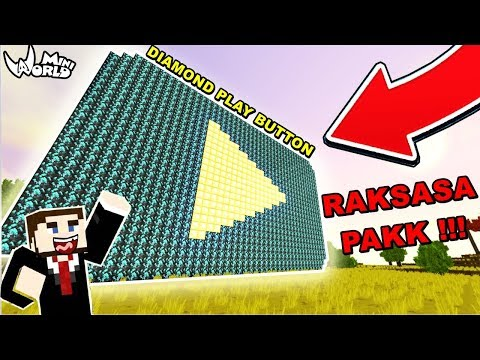 download YOUTUBE DIAMOND PLAY BUTTON RAKSASA JADI NYATA DI DUNIA INI !!! MINI WORLD BLOCK ART