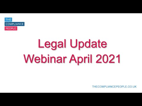 Environment and Health & Safety Legal Update Webinar April 2021