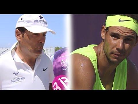 Rafa Nadal Practice and Toni Nadal Interview, Mallorca. 24 June 2017