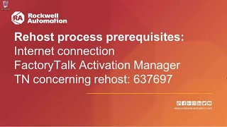 How to Rehost a FactoryTalk Activation License