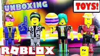 Roblox Series 3 Toy Set Unboxing - The Disco Madness Mix & Match Set - Jazwares Roblox Toys and Code