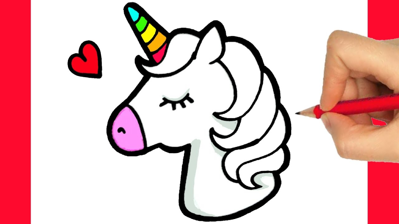 Como Dibujar Un Unicornio Kawaii Como Desenhar Um Unicornio Youtube
