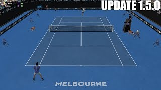Full Ace Tennis Simulator - UPDATE 1.5.0 - Novak Djokovic vs Rafael Nadal - PC Gameplay