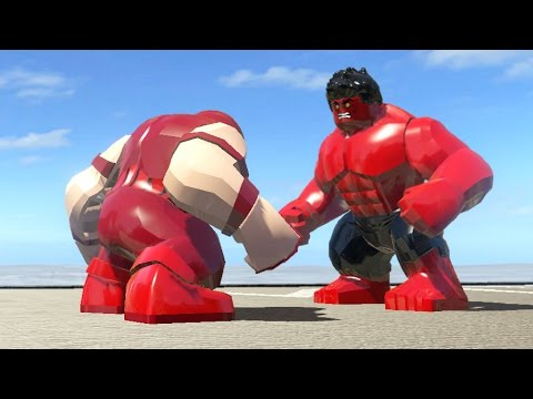 LEGO RED HULK VS JUGGERNAUT - LEGO Marvel Super heroes - YouTube