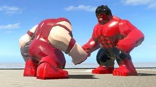 LEGO RED HULK VS JUGGERNAUT - LEGO Marvel Super heroes