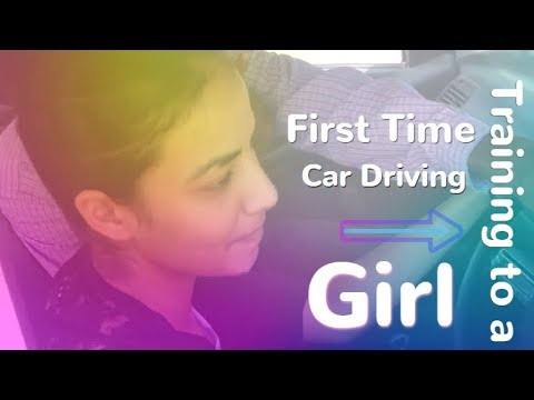 First Time Car Driving Training to a Girl