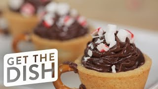 Peppermint Hot Chocolate Cookie Dessert Cups | Get the Dish