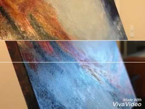 ABSTRACT PAINTING oil on canvas and acrylic on canvas