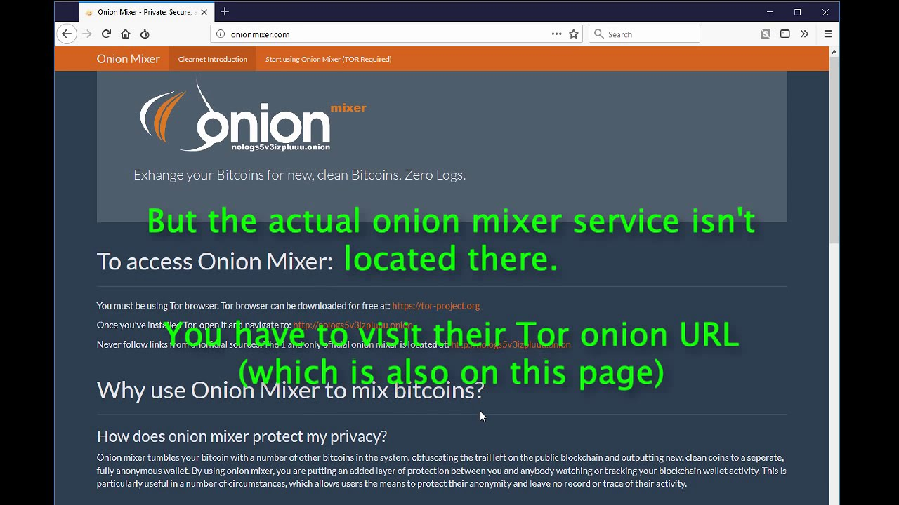 How to Mix Bitcoin Cash (BCH) Using Onion Mixer Anonymously