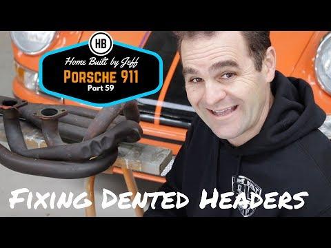 How to repair dented headers – Porsche 911 Classic Car Build Part 59