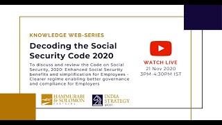 [Live Webinar] Decoding The Social Security Code 2020