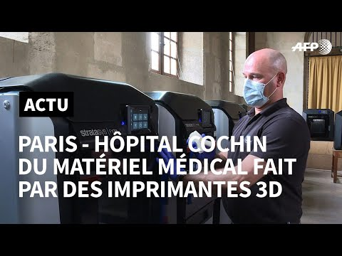 Coronavirus: à Paris, des imprimantes 3D contre le manque de matériel | AFP