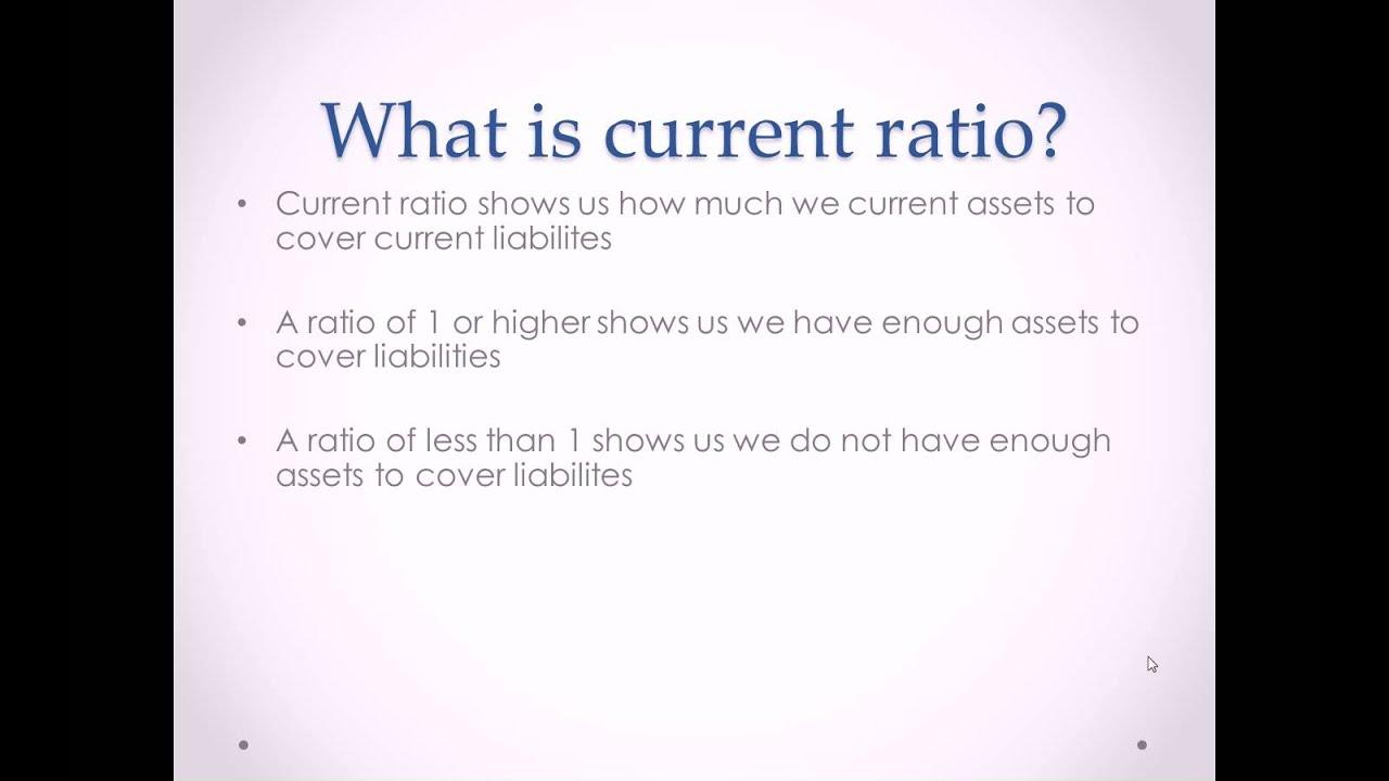 Current Ratio - Formula, Meaning, Assumptions and Interpretations