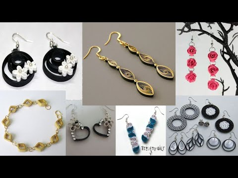 DIY Paper Quilling Jewelry Art # ideas
