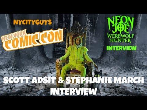 NYCC 2015  Scott Adsit & Stephanie March Talk Neon Joe!