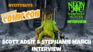 NYCC 2015 - Scott Adsit & Stephanie March Talk Neon Joe!