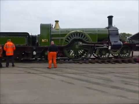 """Great Northern Railway """" Stirling Single"""" No 1 being turned at NRM Shildon 30/4/14"""