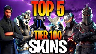 TOP 5 TIER 100 SKINS IN FORTNITE BATTLE ROYALE (Ranking The Tier 100 Battle Pass Skins)