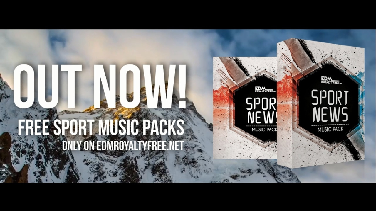 Copyright free sport news music packs | 4 pumping edm tracks (free.