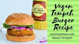 Vegan Veggie Burger Recipe: meatless burger made with tempeh