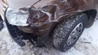 24.01.2017 ДТП замес из 8 авто на ул. Бородина (Ижевск)