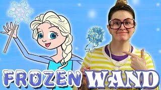 Frozen Magic Wand! - Snowflake DIY | Arts and Crafts with Crafty Carol