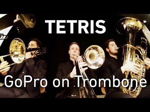 GoPro on Trombone: Tetris