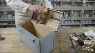 Vintage Paint | DIY paint project - old suitcase